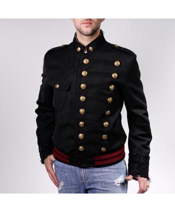 Blouson Dolce e Gabbana Uomo in tessuto nero