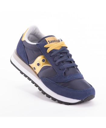 Sneakers Saucony Jazz Blue Navy e Gold oro