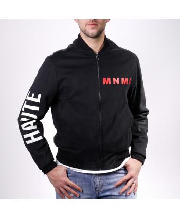 Bomber Minimal Haute Couture MNML in tessuto nero