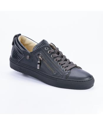 Sneakers Cesare P. Made in Italy in pelle colore nero