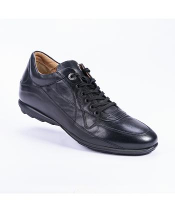 Sneakers Cesare Paciotti 4US Made in Italy, in pelle di vitello colore nero