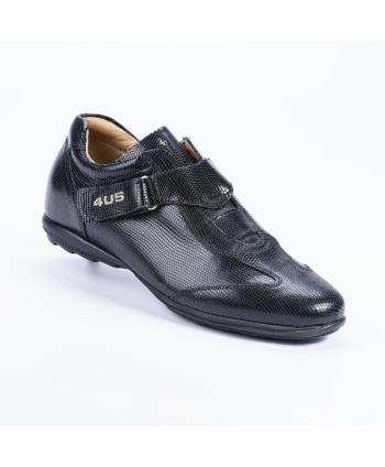 Sneakers Cesare Paciotti 4US Made in Italy, in pelle stampata lizard colore nero