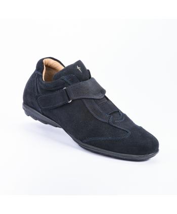Sneakers Cesare Paciotti 4US Made in Italy, in camoscio colore blu,