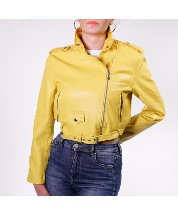 Chiodo Vanessa Scott Donna in ecopelle colore giallo