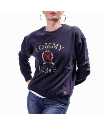 Felpa Tommy Hilfiger Donna in cotone blu