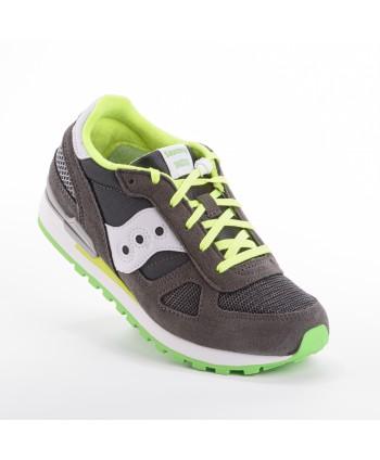 Sneakers Saucony Shadow Grigio e Verde fluo
