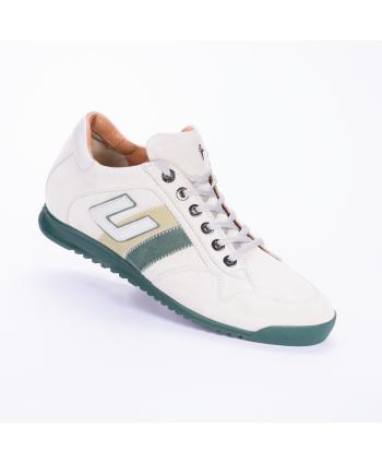 Sneakers Cesare Paciotti 4US Made in Italy, In camoscio colore ice sal menta.