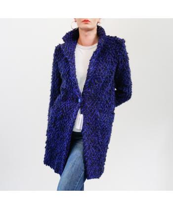 Cappotto Maison 4 Donna in lana cotta blu