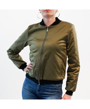 Bomber Hellen Barrett Donna in tessuto verde militare