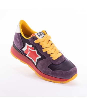 Sneakers Atlantic Stars Vega Viola e applicazioni colorate
