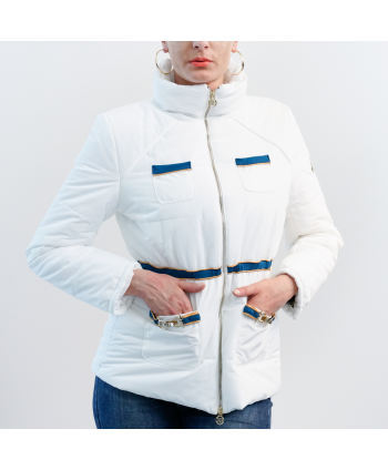 Piumino Roberta Biagi Donna in tessuto bianco trapuntato
