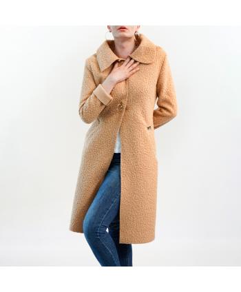Cappotto Roberta Biagi Donna in lana cotta cammello