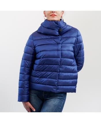 Piumino Trash and luxury in tessuto blu trapuntato