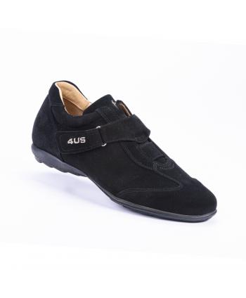 Sneakers Cesare Paciotti 4US Made in Italy in camoscio colore nero