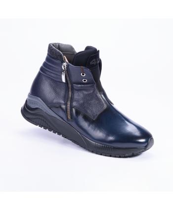 Sneakers Cesare Paciotti 4US Made in Italy in pelle liscia e dettagli martellati colore blu