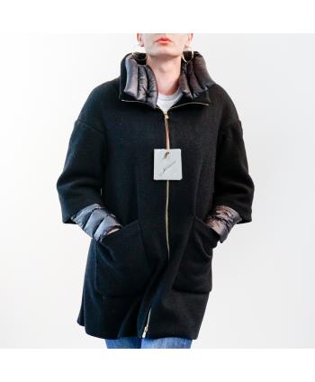 Cappotto piumino Montecore donna in tessuto nero