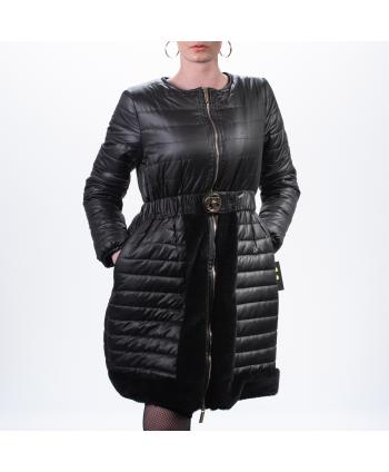 Piumino Roberta Biagi A/I donna in tessuto nero trapuntato