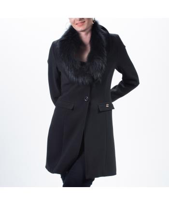 Cappotto Roberta Biagi donna A/I in tessuto nero