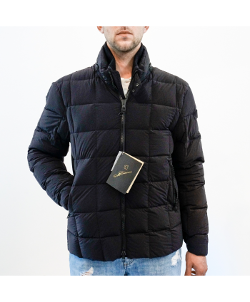 Piumino jacket Montecore uomo in tessuto nero trapuntato