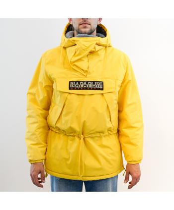 Giubbino Napapijri Geographic uomo in termo fibre colore giallo