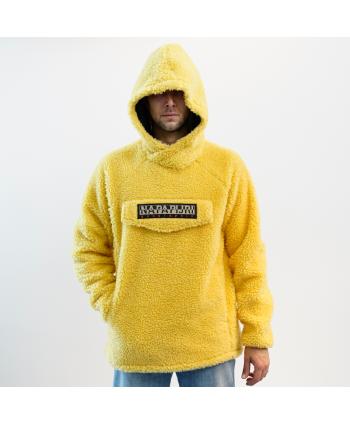 Giubbino Napapijri Geographic uomo in lana colore giallo