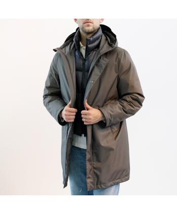 Piumino down jacket Montecore Uomo in tessuto colore grigio