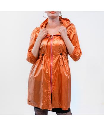 Trench Paolo Casalini donna P/E in tessuto tecnico colore ruggine