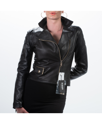 Giacca Versus Versace donna in pelle colore nero