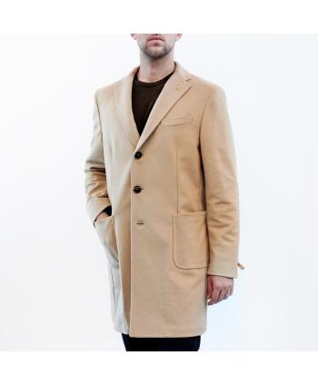 Cappotto Paoloni Uomo in lana vergine color sabbia