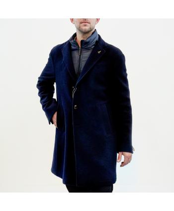 Cappotto Paoloni Uomo in lana colore blu