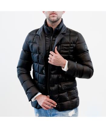 Piumino jacket Fay uomo in tessuto nero trapuntato