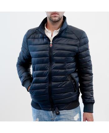 Piumino jacket Invicta uomo in tessuto blu trapuntato