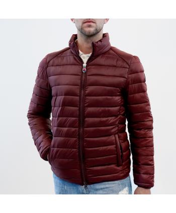 Piumino jacket Invicta uomo in tessuto bordeaux trapuntato