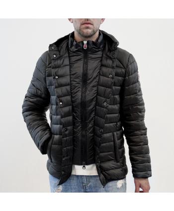 Piumino jacket Invicta uomo in tessuto trapuntato nero