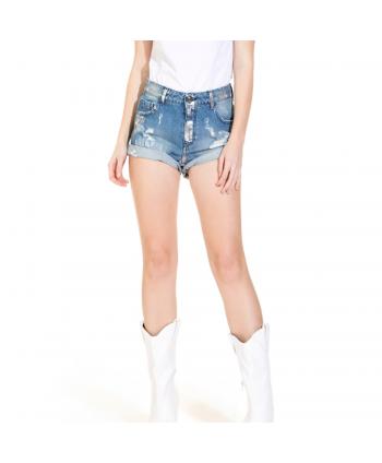 Shorts di jeans Trash and...