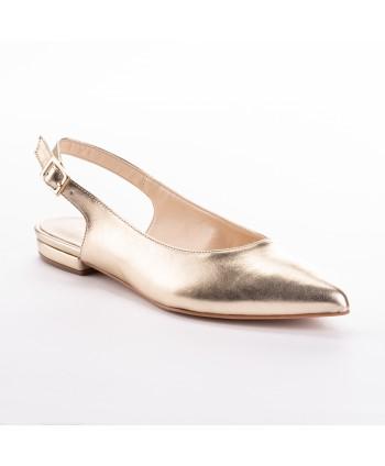 Ballerina Osvaldo Rossi in pelle colore oro