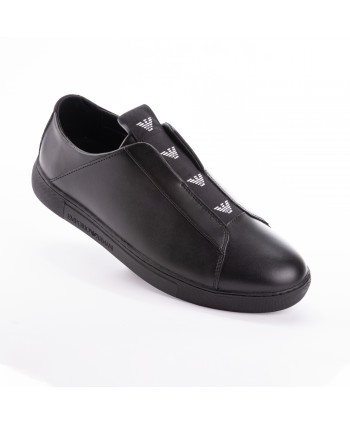 Slip-on Emporio Armani in pelle nero