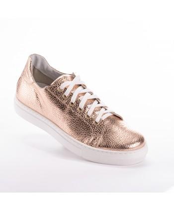 Sneakers Osvaldo Rossi in pelle Gold Rose