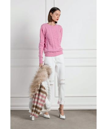 Maglione  rosa in lana...