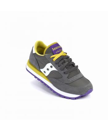 Sneakers Saucony Jazz in pelle scamosciata e nylon, di colore grigio