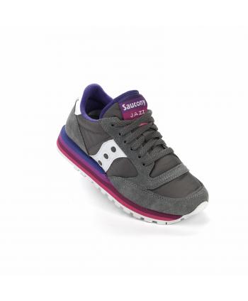 Sneakers Saucony Jazz in pelle scamosciata, di colore grigio e viola